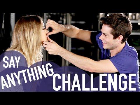 SAY ANYTHING CHALLENGE (with Dylan O'Brien & Kaya Scodelario)