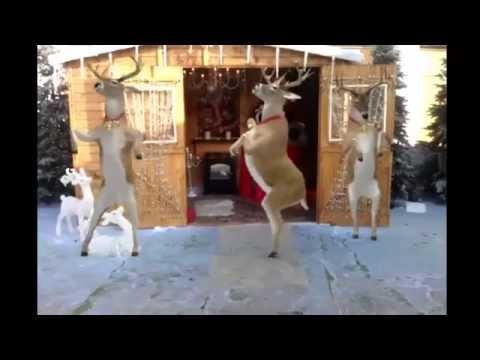 Santa and Reindeer Dancing - Merry Christmas - Happy New Year 2017 / 2018