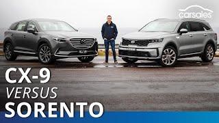 Kia Sorento GT-Line v Mazda CX-9 Azami 2020 Comparison Test | carsales