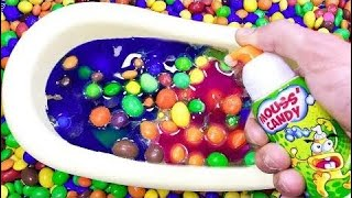 Tub Full of Mixing Candy with ABC Songs for Baby - Sing-Along Nursery Rhymes #RainRainGoAway