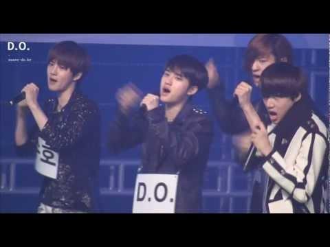 Fancam 120511 EXO-K Music Bank - MAMA Rehearsal (D.O focus)
