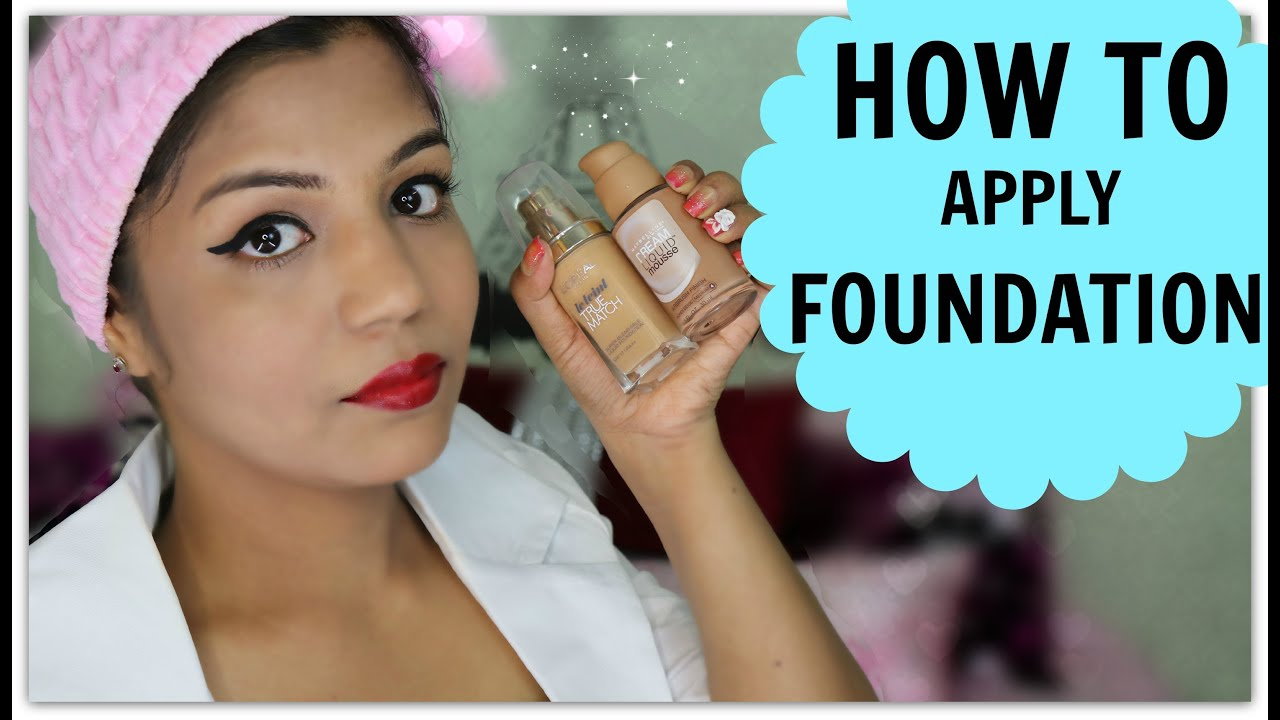 How To Apply Foundation Indian Skin Tone Brown,Medium,Dark