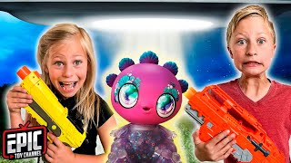 Nerf Battle:  Hero Kidz Rescue Mystery Surprise From Backyard | Epic Toy Channel