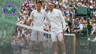 Roger Federer vs Novak Djokovic - best points at Wimbledon