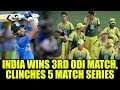 India defeats Australia in 3rd ODI, wins series 3-0; Kohli equals Dhoni's records