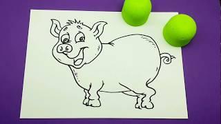 DIY How to Draw a Piggy   Cartoon style Art for Kids