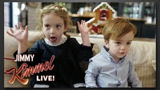 Jimmy Kimmel's Kids Wouldn't Sit Still for Christmas Photos