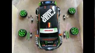 Traxxas rally / Ken Block Gymkhana Fiesta VXL 1:16 Tuning / Custom /  Tuned for drifting with LEDs