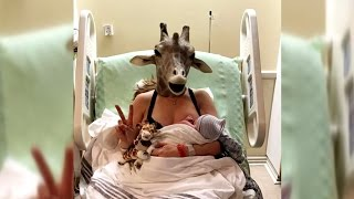 Mom In Mask Who Spoofed April The Giraffe Gives Birth To Baby Boy