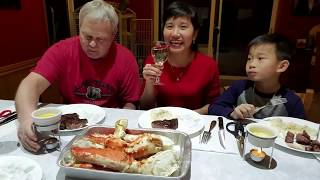 Ăn cua hoàng đế và thịt bò mừng nhận được nút bạc và thẻ xanh 10 năm , Washington