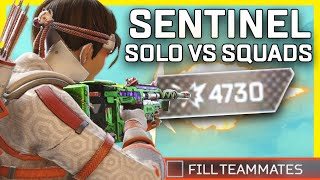 Almost 5K Damage With The Sentinel Solo Vs Squads - Apex Legends Season 9 Gameplay