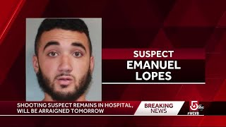 Shooting suspect remains in hospital, expected to be arraigned Monday