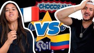 FRANCESA probando DULCES COLOMBIANOS 🍫🍬 | ¡COLOMBIA vs FRANCIA!  | Agentes Dementes
