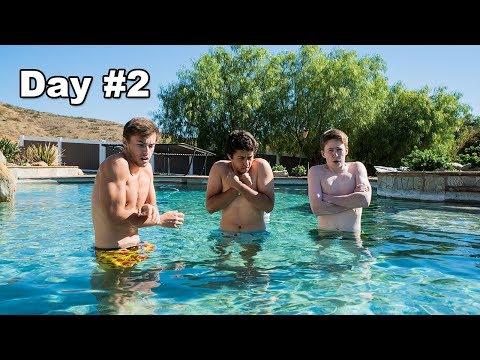 Last To Leave Pool Wins $5,000 - Challenge