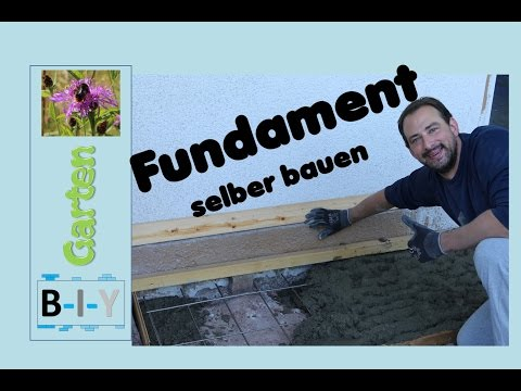 fundament selber bauen schritt f r schritt anleitung. Black Bedroom Furniture Sets. Home Design Ideas