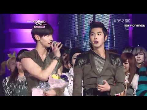 [HD] 110114 TVXQ's HoMin Win MusicBank HD