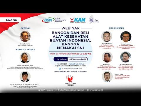 https://youtu.be/BHvVof-kMMgWebinar Bangga dan Beli Alat Kesehatan Buatan Indonesia, Bangga Memakai SNI