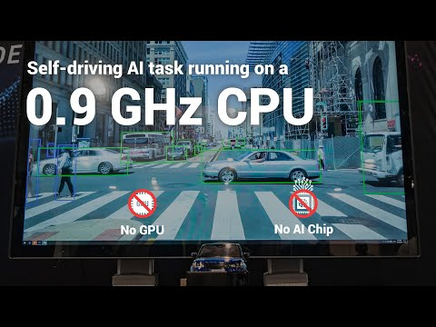 Self-Driving AI task running on 0.9GHz low power processor