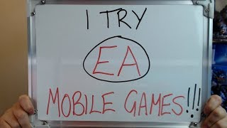I Try EA's MOBILE GAMES (I couldn't BELIEVE what I saw) !!