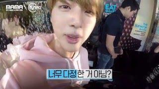 [2015MAMAxMPD] BTS 진 생일축하 몰래카메라 Jin's surprise party 151210