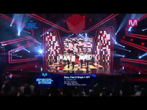 Mr.Simple + Sexy,Free & Single + Spy by Super Junior @Mcountdown_2012.08.02