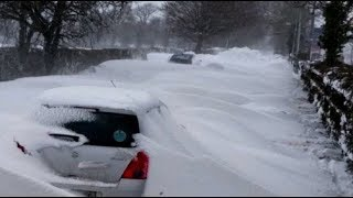 Bomb Cyclone USA & Super Freeze Blizzard Across UK Storm Emma (543)