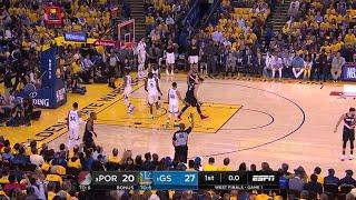 1st Quarter, One Box Video: Golden State Warriors vs. Portland Trail Blazers