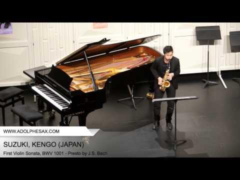 Dinant 2014 - SUZUKI, KENGO (First Violin Sonata, BWV 1001 - Presto by J.S. Bach)