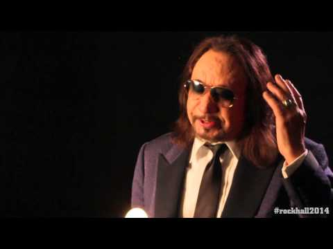 Ace Frehley of KISS backstage interview at the 2014 Rock and Roll Hall of Fame Inductions