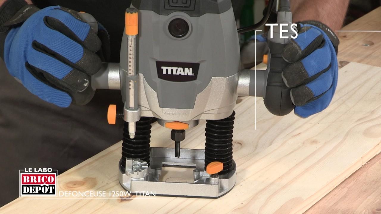Labo Brico Test Défonceuse Titan 1250 W
