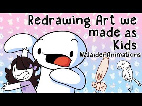 Redrawing Art we made as Kids w/JaidenAnimations