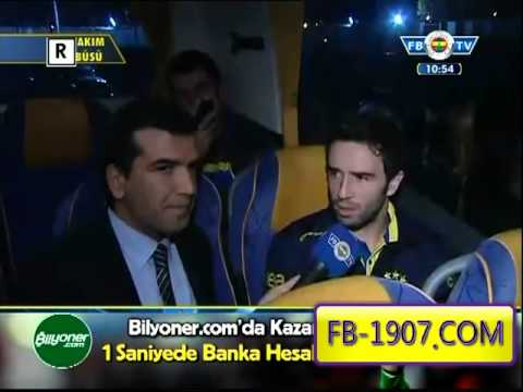 Marsilya Maçı Sonrası Fenerbahçe Takım Otobüsü Röportajları Tamamı