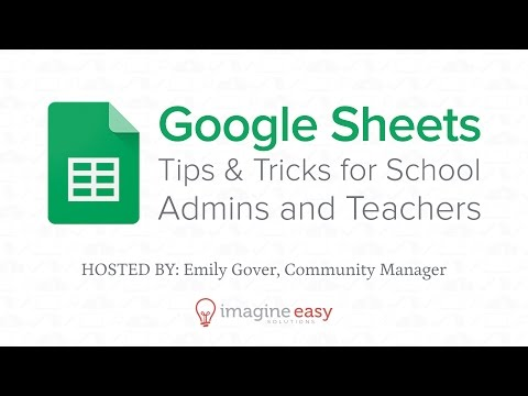 Google Sheets for Admins & Teachers