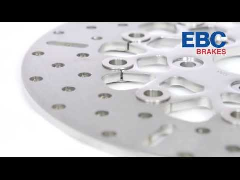 EBC Brakes Custom Polished Brake Disc Rotors For Big Twins