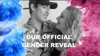 OUR OFFICIAL GENDER REVEAL!!!