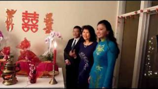 Vietnamese Engagement Ceremony with Procession