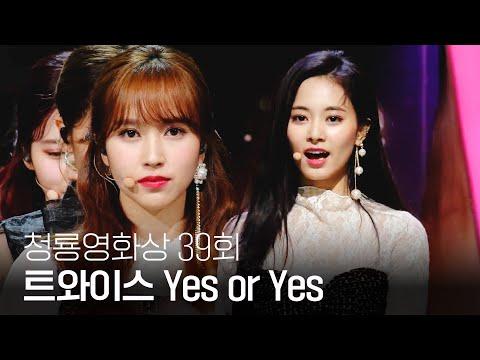 러블리한 트와이스(TWICE)의 역대급 축하무대(lovely stage) 'Yes or Yes' @제39회 청룡영화상