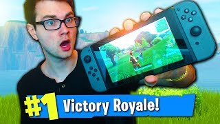 PLAYING FORTNITE ON THE NINTENDO SWITCH! (INSANE Fortnite Nintendo Switch Gameplay)
