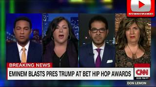 Eminem CRUSHES President Trump In BET Hip Hop Awards Freestyle Cypher CNN Panel Reacts