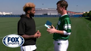 Odell Beckham Jr. catches Peanut M&M'S from Cooper Manning  - #MANNINGHOUR