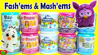 Fashems and Mashems including Furby, My Little Pony Series 3, Frozen, and Disney Princess