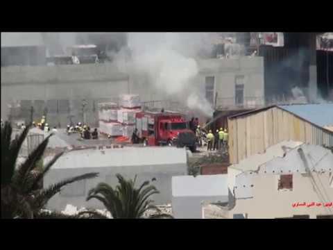 حريق بورش بناء TGV بالدار البيضاء