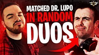 MATCHED DR. LUPO IN RANDOM DUOS?! WHAT ARE THE ODDS?! (Fortnite: Battle Royale)