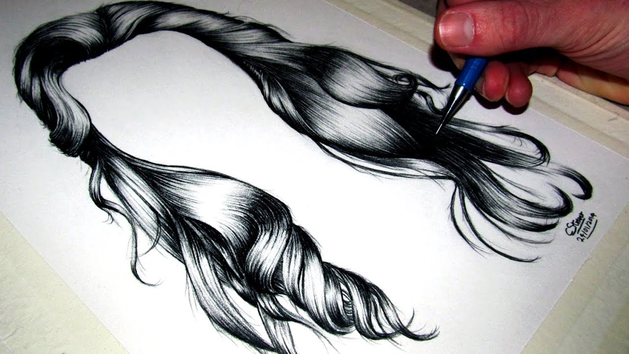 Hairstyle Drawings: How To Draw Realistic Hair