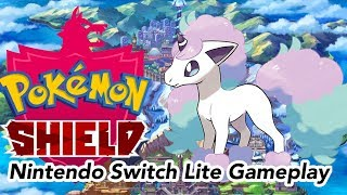 Pokemon Shield on the Nintendo Switch Lite