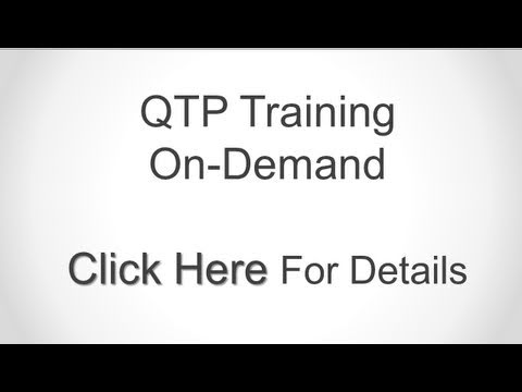 QTP Training On-Demand