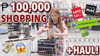 VLOG#27: 100,000 PESO SHOPPING IN 1 DAY! | LANDERS & SM GROCERY HAUL + NEW PHONE | Candy Inoue ❤️