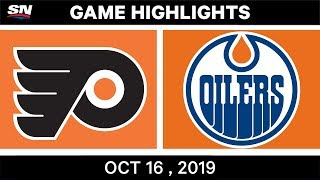 NHL Highlights | Flyers vs Oilers – Oct 16 2019