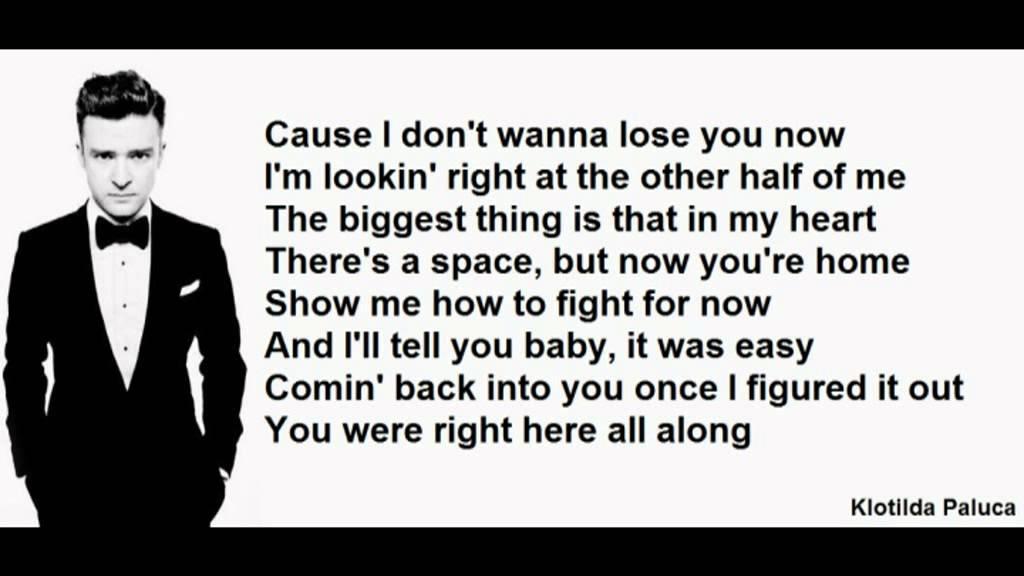 Justin Timberlake - Mirrors LYRICS - YouTube