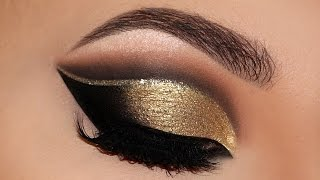 ⭐ Cut Crease Glam New Years 2016   Party Makeup Tutorial   Melissa Samways ⭐